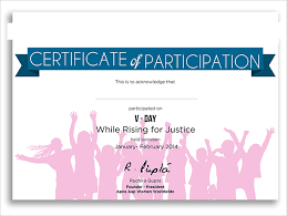 9 Participation Certificates Examples Samples