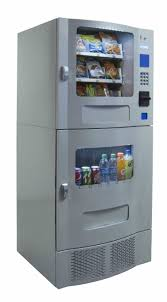 Compact Combination Vending Machine Magnificent Snak Mart SM48 Silver Combo Vending Machines Snack And Soda Combo