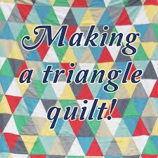 How to Make a Triangle Quilt — A Sharper Focus Blog & How to Make a Triangle Quilt Adamdwight.com