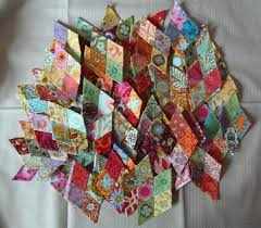 Faeries and Fibres: English paper pieced diamonds for