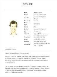 Simple Resume Format Sample | Nfcnbarroom.com