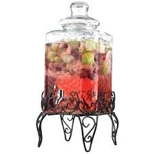 home essentials sol glass beverage dispenser with stand gal costco 2