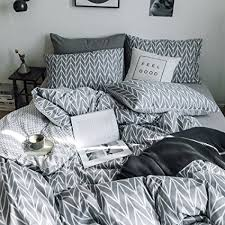 chevron duvet cover.  Chevron HIGHBUY Geometric Chevron Duvet Cover Set Queen Reversible 100 Premium  Cotton Modern Stripe Pattern Full With R
