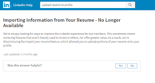 Upload Resume Amazing Uploading A Resume To Your LinkedIn Profile