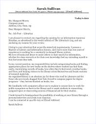 Cover Letter For Child Librarian Librarian Cover Letter Librarian