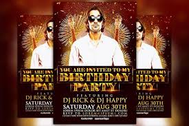 Party Flyer Unique Birthday Party Flyer Template Flyer Templates Creative Market Pro