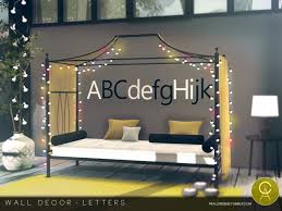 on the sims resource sims 3 wall art with pralinesims wall decor letters