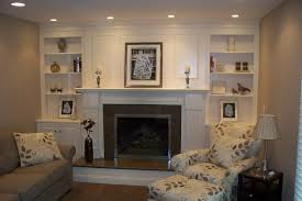 fireplace surround with shelves