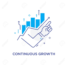 Growth Chart Training Businessman Finger Pointing Upwards Training Business School