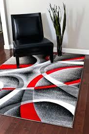 red area rugs 5x7 com gray black red white swirls 5 2 x 7 modern