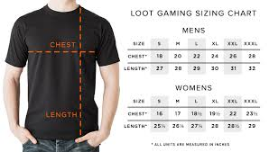 Sizing Charts Loot Crate Help Center