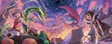 Zinnia Pokemon May Pokemon Rayquaza Pokemon Salamence Pokemon Mega  Evolution Pokemon Mega Rayquaza P Wallpaper - Resolution:3329x1304 -  ID:732019 - wallha.com
