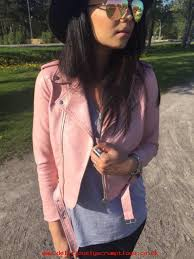 authentic zara pastel pink pu faux leather effect biker jacket with zip 3046 221 hvkz75638885 larger image
