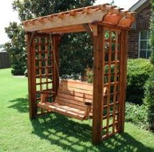 Small Picture The 25 best Arbor swing ideas on Pinterest Pergola swing
