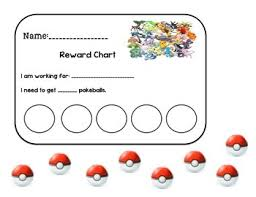 Pokemon Behaviour Chart Pokemon Reward Chart Earning Pokeballs Behavior Pokemon