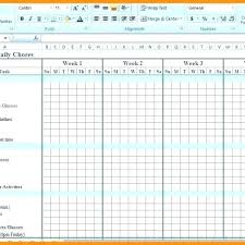 Monthly Chore Chart Template Supergrafica Co With Regard