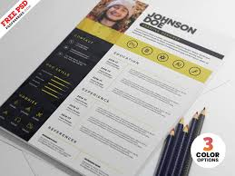 Professional Psd Resume Cv Template By Psd Freebies On Dribbble