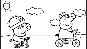 Peppa Pig Coloring Pig Coloring Page Pig Birthday Coloring Pages For