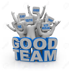 How To Be A Good Team Leader At Work A Group Of Cheering People With Teamwork Qualities On Their Heads