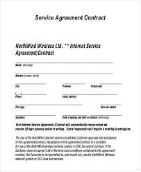 sample contract agreement internet service agreement templates sample service agreement