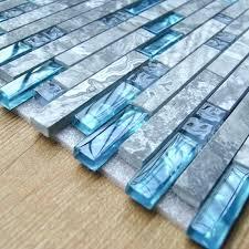 decoration glass tile kitchen with sea blue marble bathroom interlocking wall linear shower mosaic backsplash