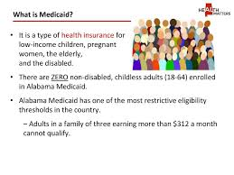 Alabama Medicaid Eligibility Income Chart To The States Infrastructure Ppt Download