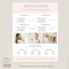 Photography Pricing Template Photography Pricing Template Inspirational Graphy Package Pricing