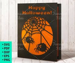 Take action now for maximum saving as these discount. Halloween Card Svg Card Template Svg Cute Halloween Etsy Halloween Cards Spider Card Cute Halloween