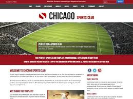 joomla football template. Joomla Template Chicago Sports Club