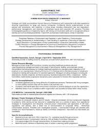 Human Resources Resume Keywords Skills Summary For Template Word