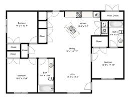 3 bedroom floor plans. Perfect Bedroom 3 Bedroom Apartment To Floor Plans R