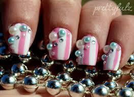 Prettyfulz: Striped Candy Shop Nail Art Design!!