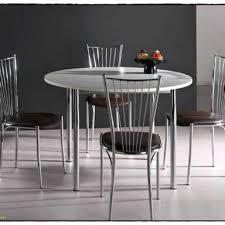 Magnifique Table Cuisine Ronde Bois Forgé Tables Pour Salle Manger