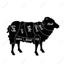 Cuts Of Lamb Chart Cuts Of Lamb British Cuts Of Lamb Or Mutton Diagram Butcher
