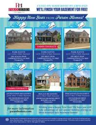 new year real estate flyers new year sale a bration flyer for new homes paran has several