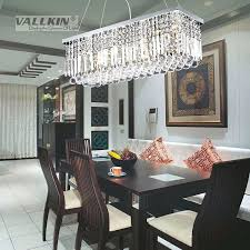 dining room ceiling light fixtures modern rectangular crystal chandelier dining room length multiple size led pendant