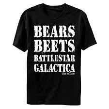 the office merchandise. The Office Bears Beets Battlestar Galactica Mens T-shirt Merchandise R