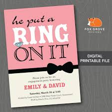 Engagement Invite Templates Personalized Engagement Party Invitations Custom Engagement Party 23