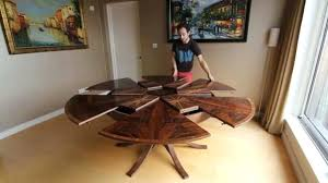 expanding circular dining table in walnut in round expanding within round expanding table idea expanding table expanding cabinet table throughout round