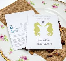 seahorse trust charity wedding favour seed packets Wedding Invitations Charity Uk seahorse trust charity wedding favour wedding invitations charity uk