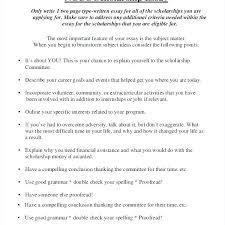 How To Write A Resume For A Scholarship Magnificent Format Of Writing Essay Writing A Scholarship Essay Examples