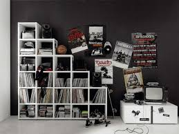 cool bedroom design black. magnificent punk rock style bedroom ideas for young adults equipped with black walling unit finished white teen room designscool cool design
