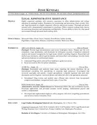 Legal Assistant Resume Sample Paralegal Resume Sample Entry Level