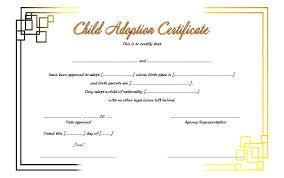Adoption Certificate Template Adoption Certificate Template Pdf