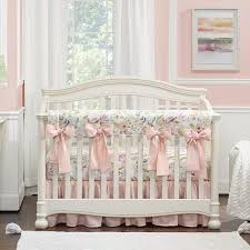 watercolor fl crib bedding set with
