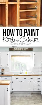 To Paint A Kitchen Tips On How To Paint Kitchen Cabinets Cherished Bliss