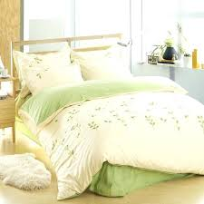green leaf bedding duvet comforter cotton leaf bedding set green bed sheets embroidered duvet cover queen
