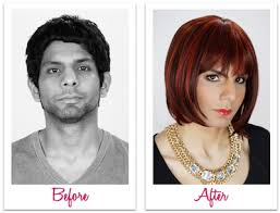 male to female transformation makeup application