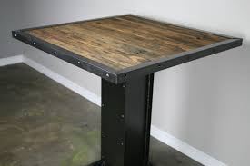 reclaimed wood and metal furniture. Buy A Hand Made Bistro/Dining Table, Modern Industrial Design, Steel \u0026 Reclaimed Wood. Great For Restaurant Or Bar, To Order From Combine 9 Wood And Metal Furniture D