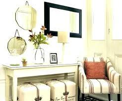 Hallway Table Decor Entry Hall Ideas Round Medium Size Of Imposing